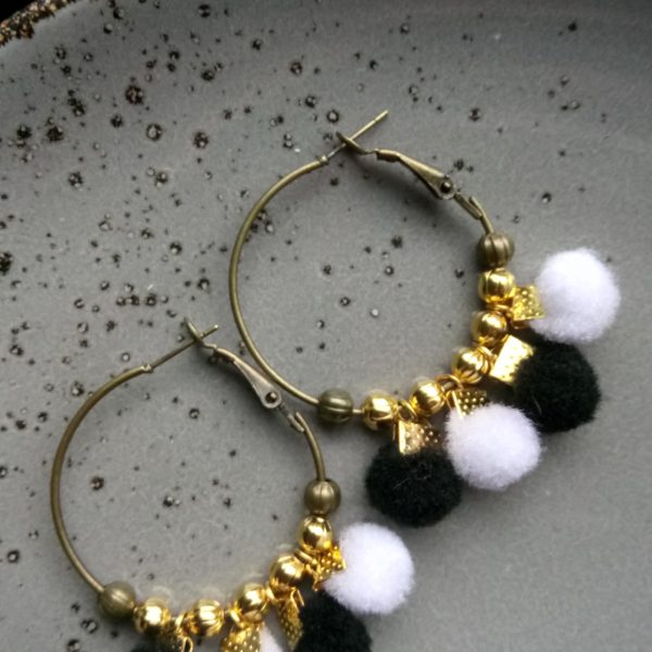 Boucles d'oreilles Confétis.Nolista